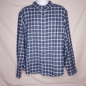 Woolrich Mens Size XL Plaid Flannel Button Up